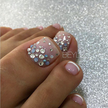 Toe French Pedicures Flower
