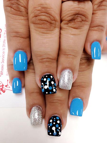 Manicure Blue Hot Cute
