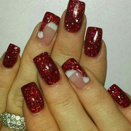 Cool Winter Nail Design, Christmas Winter Acrylic Trending