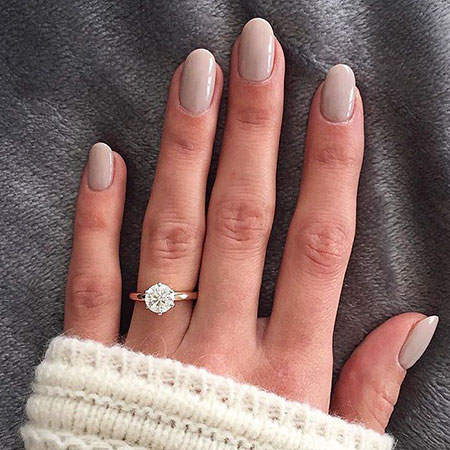Oval Shaped Nails, Manicure Rings Engagement Acrylic