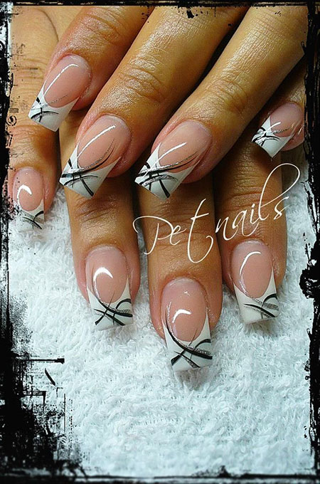 French Nägel Ongles Nageldesign