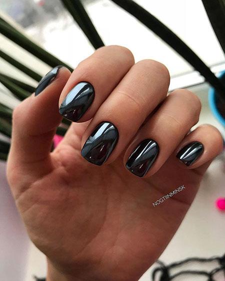 Black Manicure Gel Short
