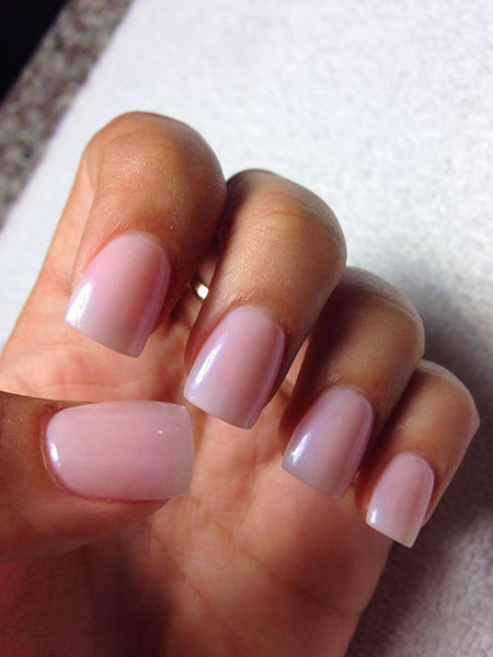 Pink Acrylic French Manicure