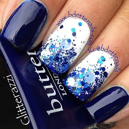 Blue White Glitter Fun