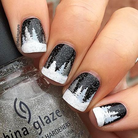 Winter Manicure Cute Style