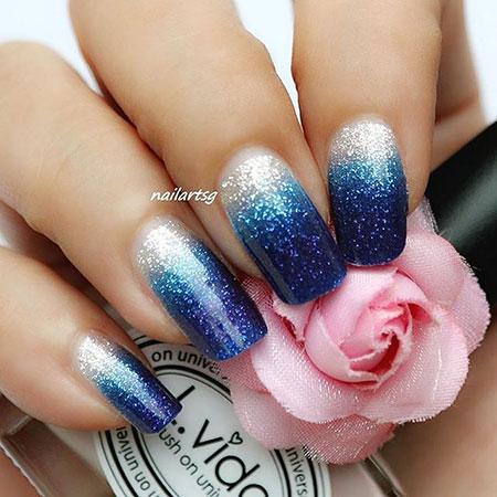 Blue Polish Finger Zoya
