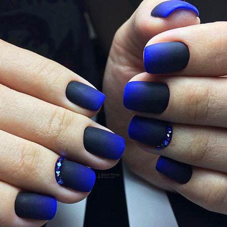 Manicure Simple Blue Gel