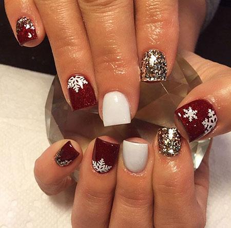 Christmas White Manicure Acrylic