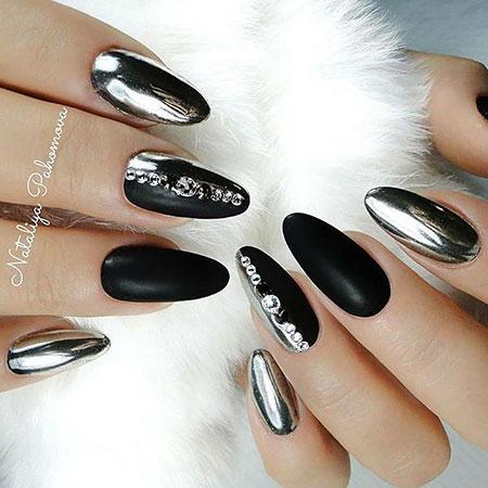 Black Silver Manicure Gel