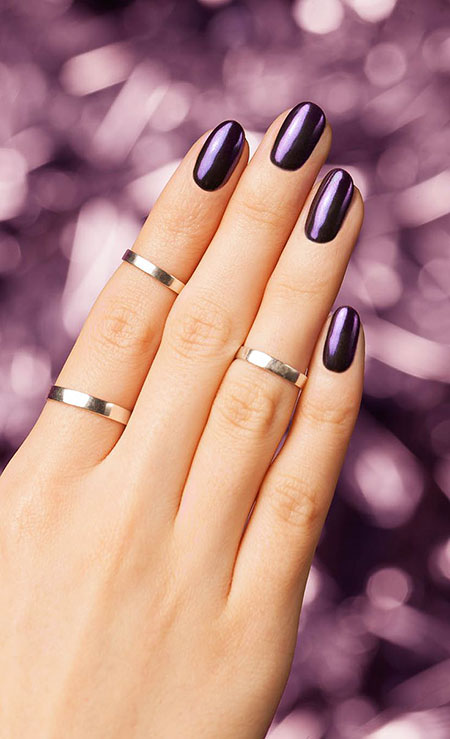 Black Manicure Rings Knuckle