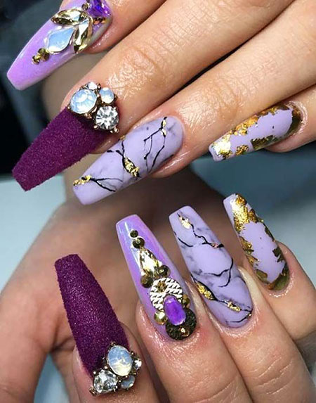 Marble Nail Art, Fall Winter Perfect Unghie