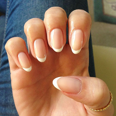 French Manicure Oval Shaped