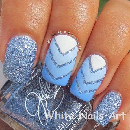 Glitter White Styles Ombre