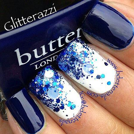 Blue Glitter Dark Galaxy