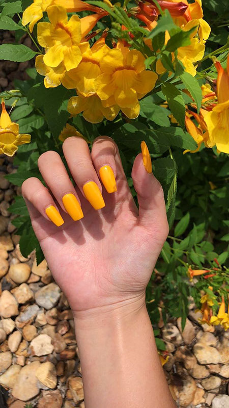 Acrylic Cute Yellow Summer