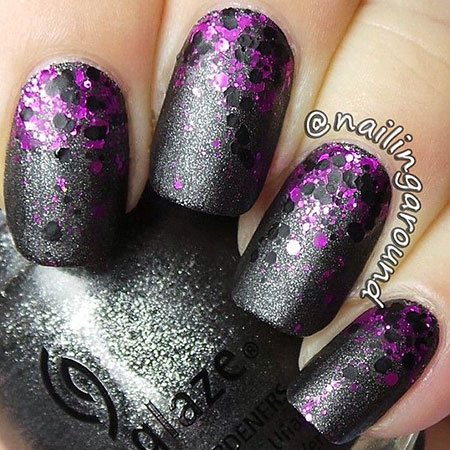 Purple Polish Dot Grey