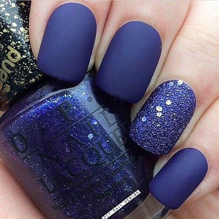 Blue Matte Glitter Navy
