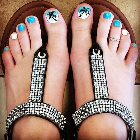 Summer Trend Toe Nail Art, Toe Pedicure Colors Simple