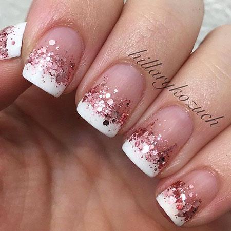 Glitter French Manicure, French Manicure Glitter Essie