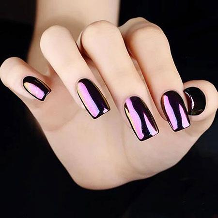 Manicure Chrome Metallic Purple