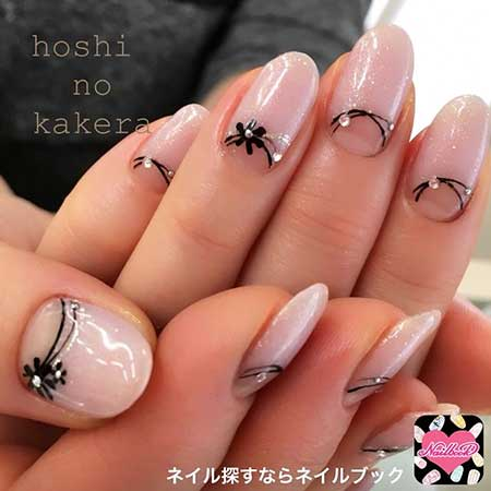 Art, Manicures, Black, Pink, French - 30 Latest Nail Designs With Pink Best Nail Art Designs 2018