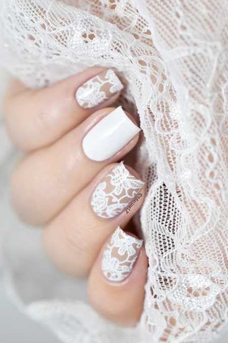 Wedding Art, Lace Nail, Manicures, S, Lace, Wedding