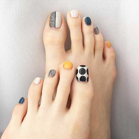 Panda Nail, Halloween Toe Nail, Art, Panda Bear, Skeleton Nail, Bear, Panda, Toe