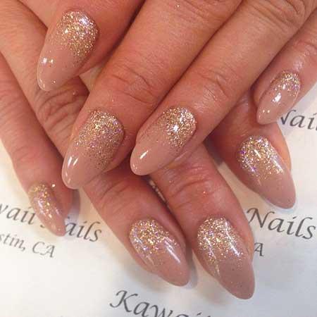 Glitter, Glitter Nail Polish, Gel Nail, Gold, Ombre