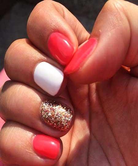 Pink, Pink Glitter, Glitter Nail, Summershort