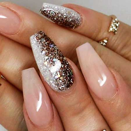 Glitter Nail, Glitter, Acrylic Sparkle, Polish, Ombre