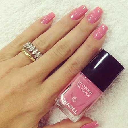 Pink Pretty Nail, Pink, Chanel Nail, Chanel, Beautiful, May, Summer