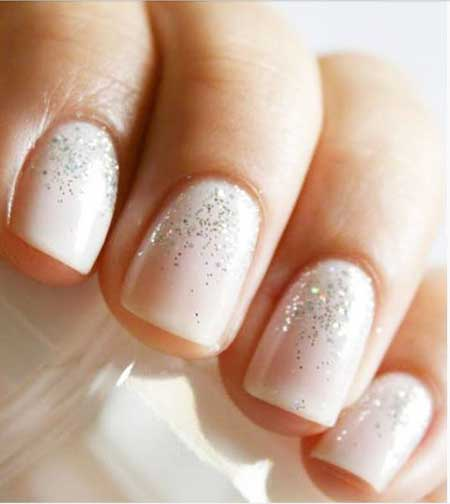 Weddingglitter Nail, Pretty Nail, Glitter, Sparkle, Wedding, Manicures, Bridal