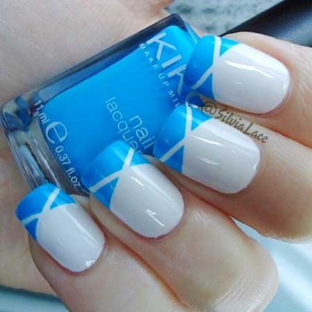 Nail Polish, Polish, Swatch, Blue, Blue China Glaze, Essie China, French, Cute [