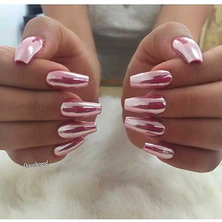 Pink, French, Manicures, Nudes, Pink French Manicure, Gel, Chrome