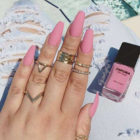 Matte Nail, Nail Color, Rings, Nail Ring, Acrylic Matte, Pink, Color