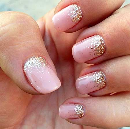 Glitter, Wedding Glitter Nail, Pink, Sparkle, Gold, Wedding, Best