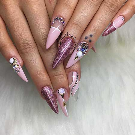 Stiletto Nail, Stilettos, Ps, Beauty Art, Pink, Stiletto, Beauty