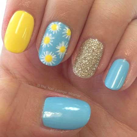 Nail, Glitter Nail, Summer Art, Polish, Mermaid Mermaid, Blue, Summer