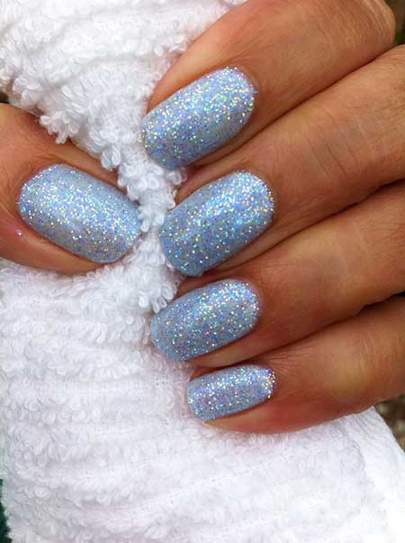 Glitter Weddingglitter Nail, Polish, French Manicure, Sparkle, Blue, Sparkly