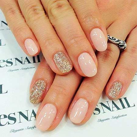 Nail, Pretty Nail Art, Glitter, Wedding Simple