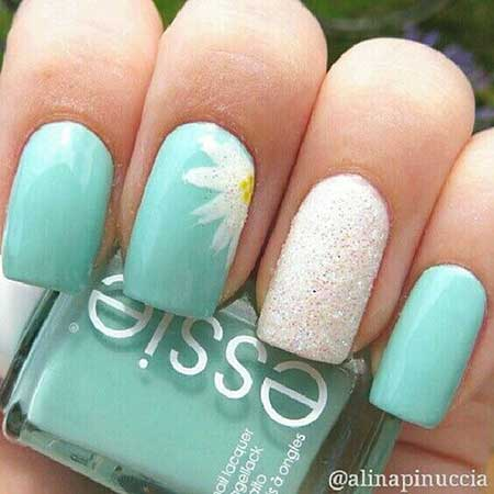 Daisy Springflower Nail, Polish, Summer Nail, Daisy, Floral
