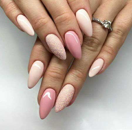 Stiletto Nail, Nude Pink, Ombre Nail, S, Light