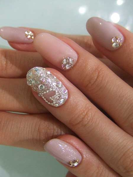 Weddingglitter, Glitter Nailh Manicure, Sparkle, Manicures, Wedding