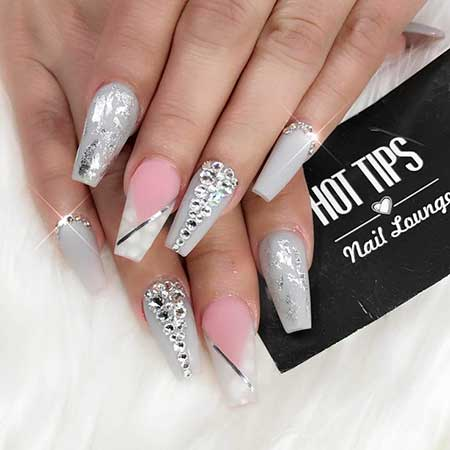 Nail, Stiletto Coffin Pink Beautyacrylic Hot