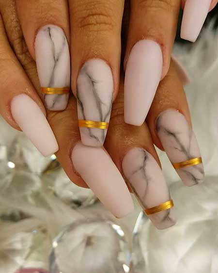 French Manicure, Nailnicures, French, French Arttte, Coffin, Marble, Idea
