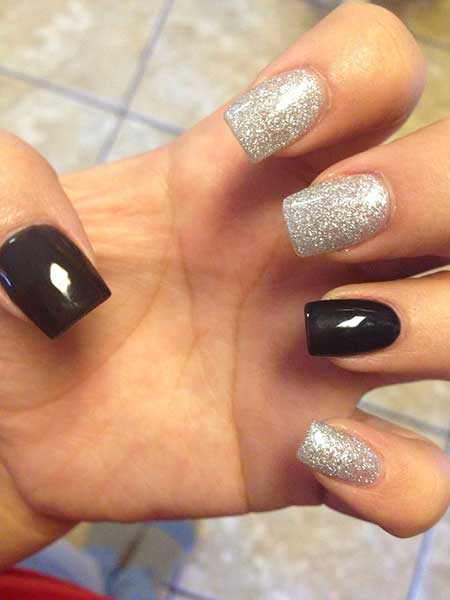 Glitter, Glitter Nail, Sparkle, Silver, Beautiful, Simple