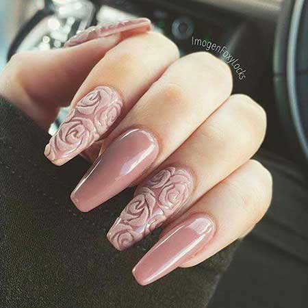 Nail, Art, Lace Nail, Pink Wedding Pink