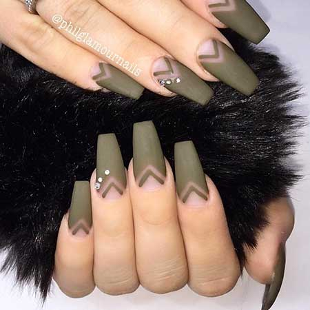 Coffin Stiletto Acrylic Nail, Nudeone