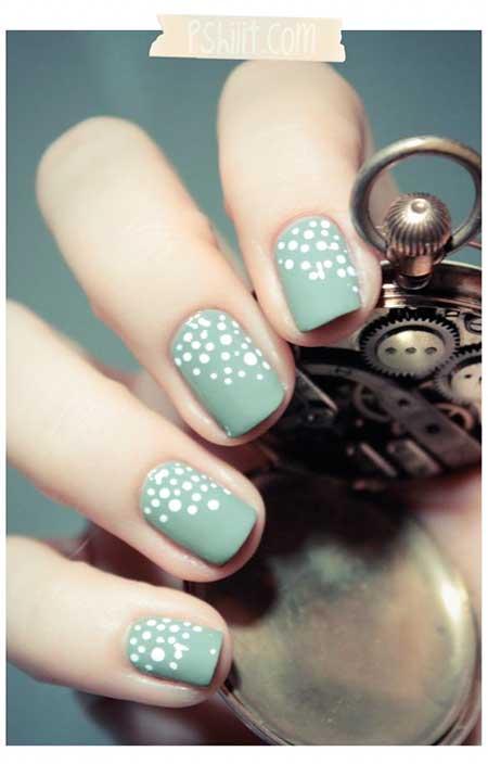 Nail Dots, Summer Dots, Blue Dot Nail, Mint, Green, Blue, Dot