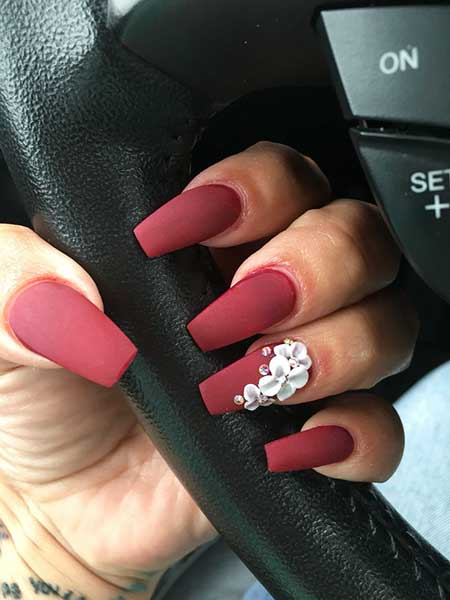Pink Pink Nail, Art, Glitter, Matte, Shape, Coffin, Stiletto